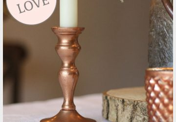 Copper candle sticks for weddings available from @theweddingomd