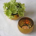 Hammered gold tea light holders or small vases available from @theweddingomd The Wedding of my Dreams