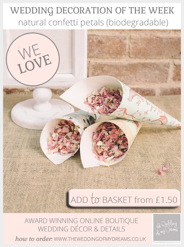 Natural confetti petals (biodegradable) available from @theweddingomd