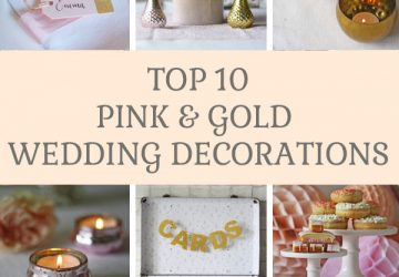 Top 10 pink and gold wedding decorations available from @theweddingomd The Wedding of my Dreams