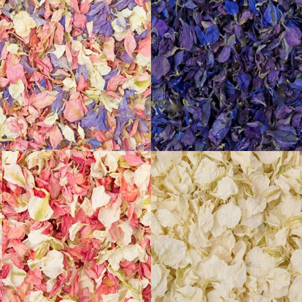 natural confetti petals 100% biodegradable for weddings - available in many colours from The Wedding of my Dreams @theweddingomd