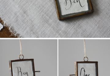 tiny frames for wedding escort cards