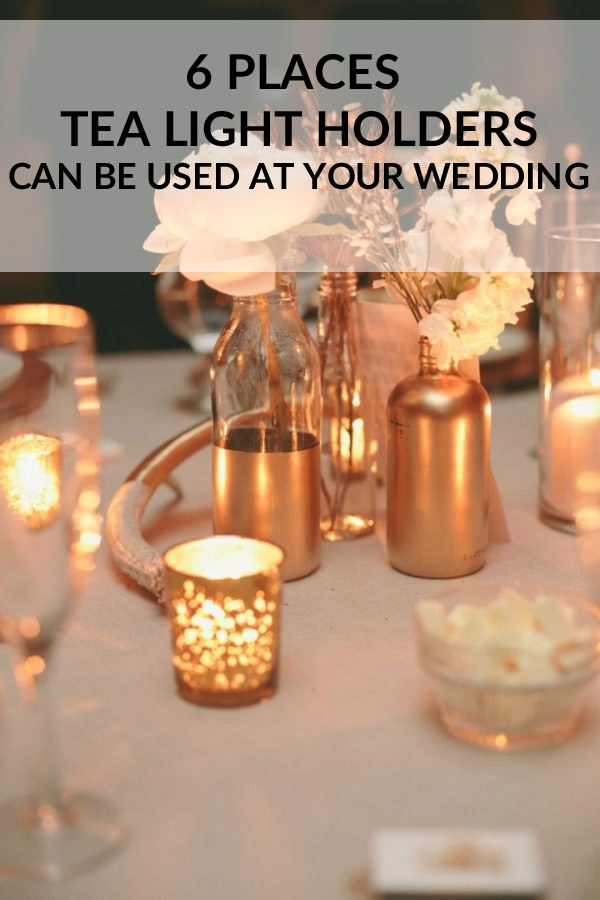 6 Places tea light holders can be used at your wedding sq