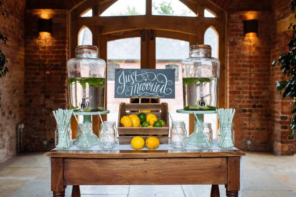 Top Tips For Wedding Venue Decorations: Welcome Drinks