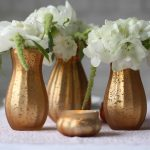 Dainty frosted gold vases 1