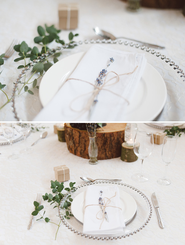 Dried lavender place settings - available from @theweddingomd