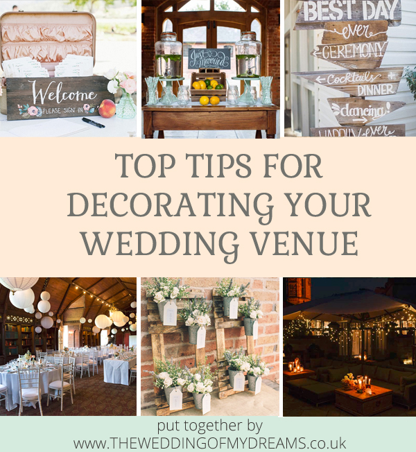 Top tips for decorating your wedding venue put together by @theweddingomd