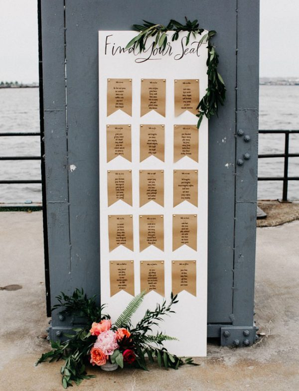 simple summer wedding table plan
