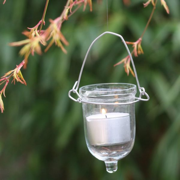 hanging glass vase tea lights available from @theweddingomd
