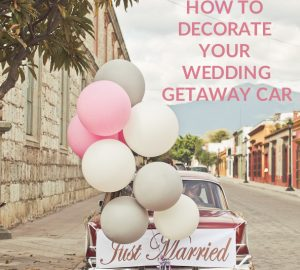 how to decorate your wedding getaway car ideas sq