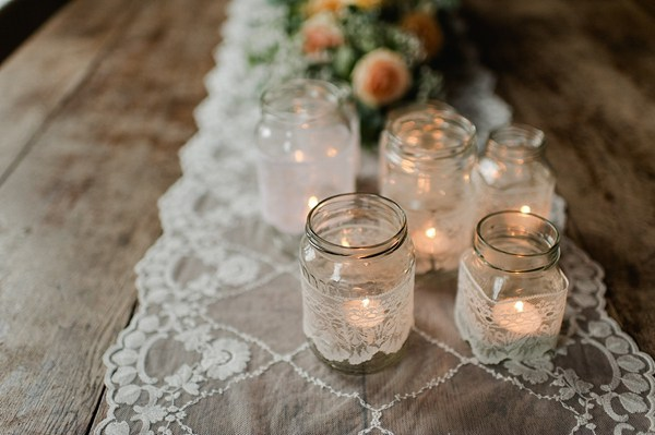 wedding favours lace tea lights holders