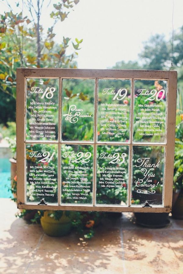 window summer wedding table plan