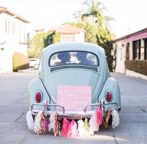 tassel garlands for wedding getaway cards