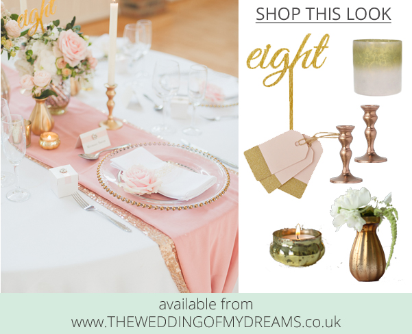 Pink and gold wedding table styling shop this look at The Wedding of my Dreams @theweddingomd