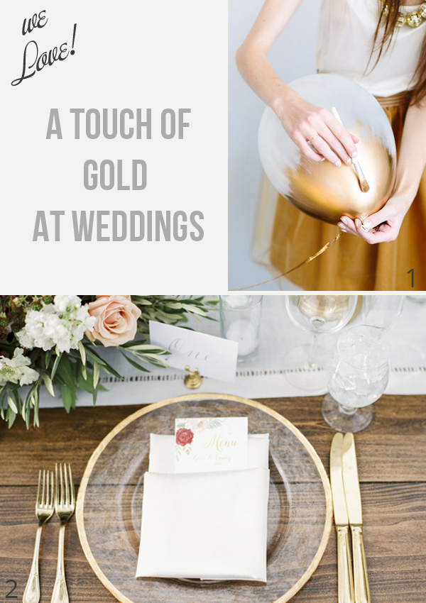 We love a touch of gold at weddings - gold wedding decorations