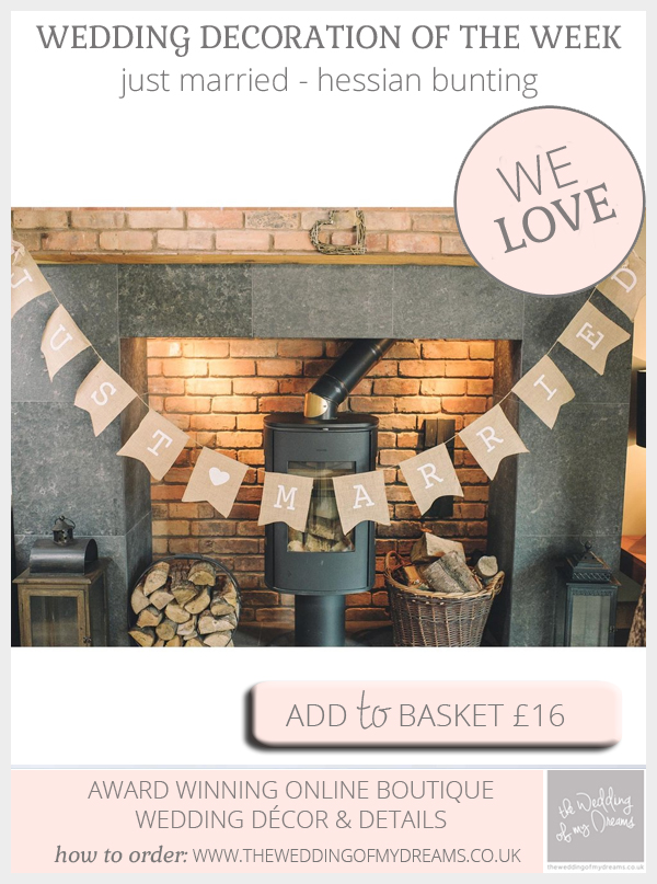 hessian bunting just married
