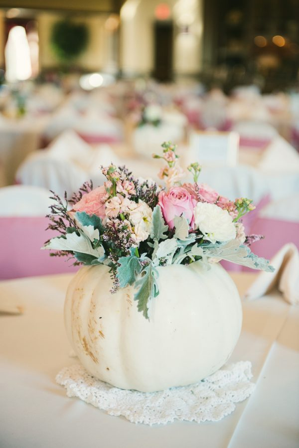 autumn wedding centrepieces theknot.com - blueelephantphotography.com