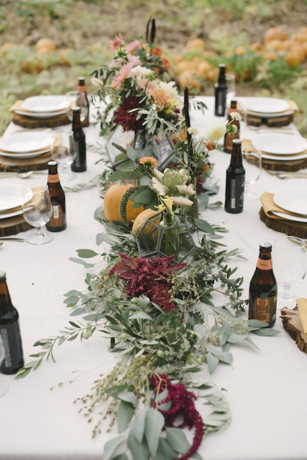 autumn wedding centrepieces bridalmusings.com - elliekoleenphotography.com