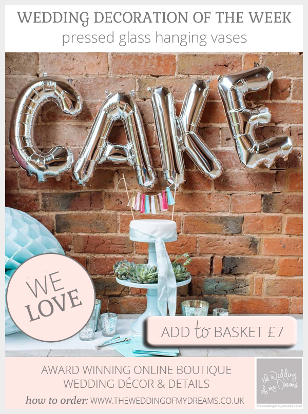 Silver CAKE balloons available from @theweddingomd