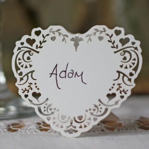 lace wedding place cards available from @theweddingomd theweddingofmydreams.co.uk - lace vintage