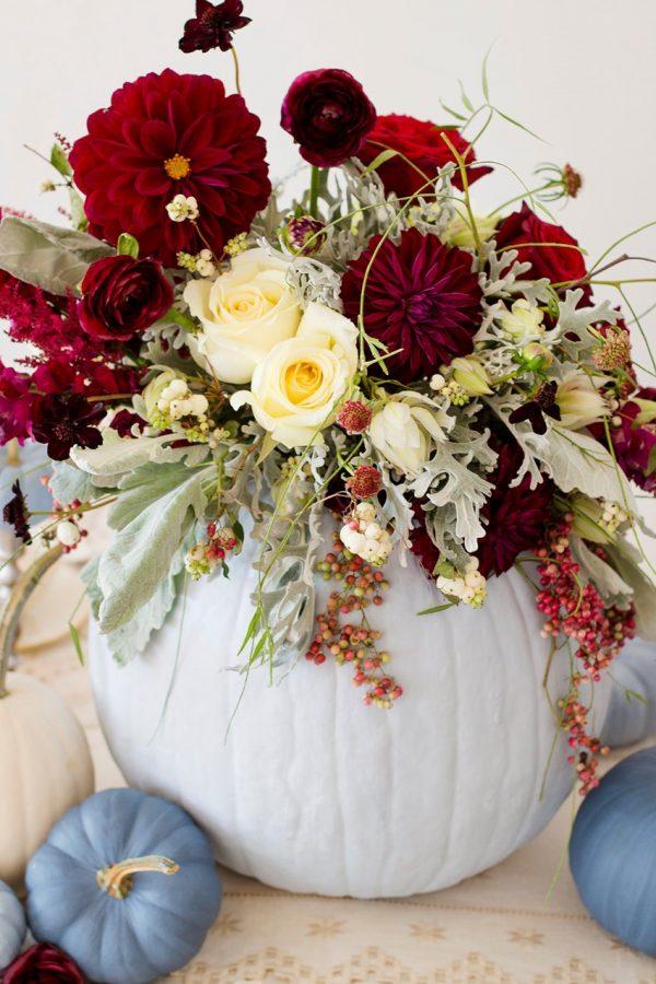 pumpkin wedding centrepieces chicvintagebrides-com-lisapricephotography-com