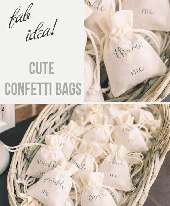 cute ideas for wedding confetti bags