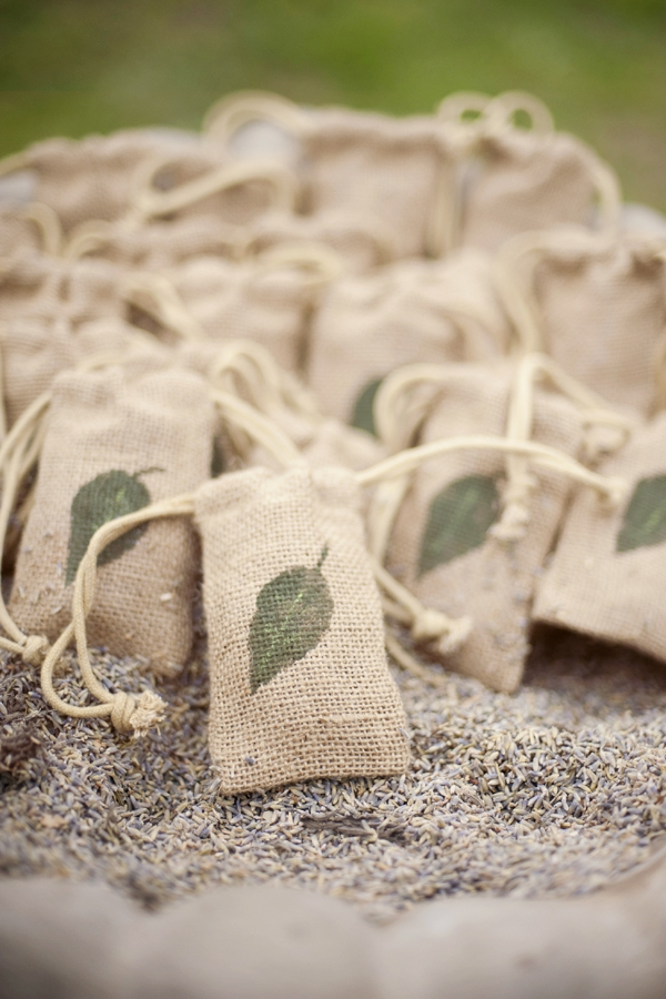hessian wedding confetti bags