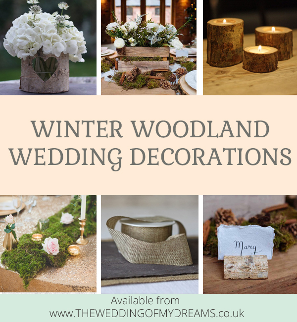 10 Winter Woodland wedding decorations you will just have to have for your wedding this winter