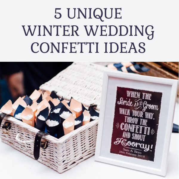 5 Unique Winter Wedding Confetti Ideas
