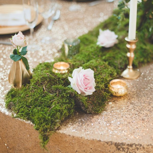 dried carpet moss winter woodland wedding decorations available from @theweddingomd