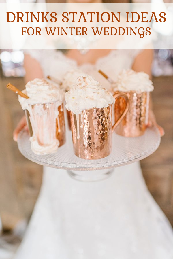 Drinks station ideas for winter weddings