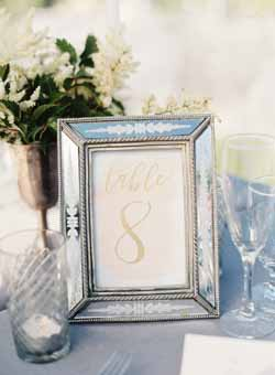 white blue and silver wedding decorations and ideas