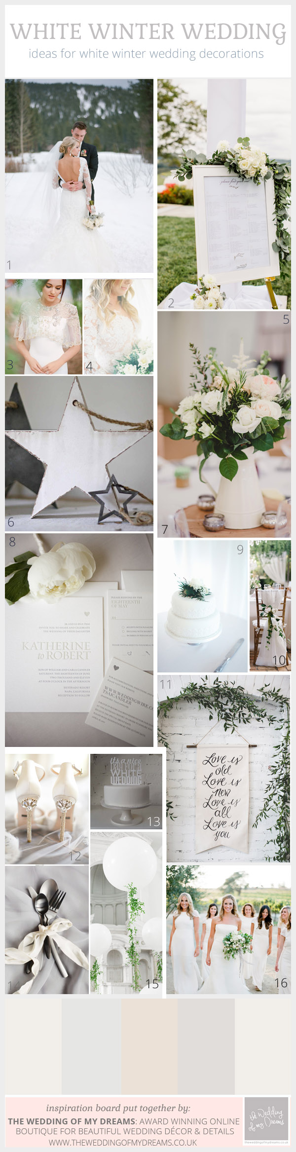 white winter wedding wedding decorations and ideas