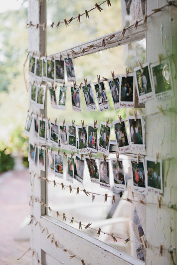 displaying photos at your wedding stylemepretty-com-boonetownstory-com