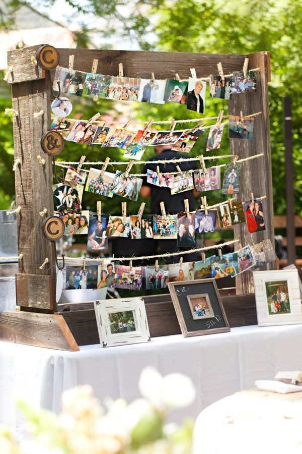displaying photos at your wedding stylemepretty-com-mirellecarmichael-com