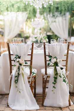 White winter wedding decorations and ideas