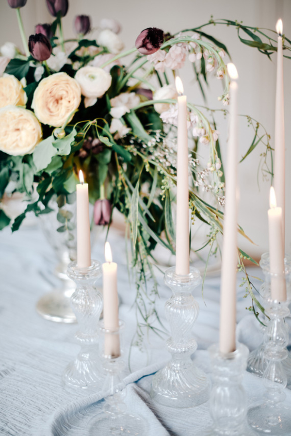 glass candlesticks for weddings 100layercake-com-graceandblush-com