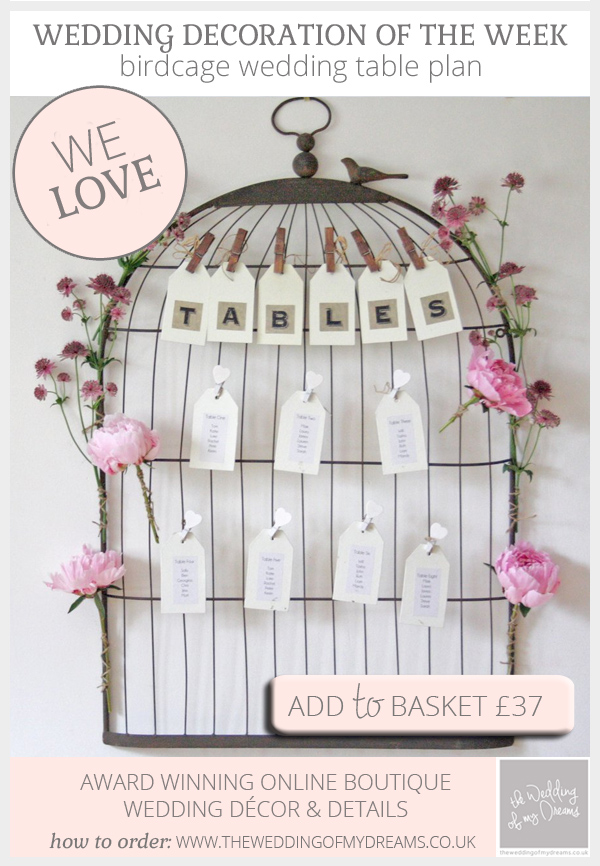 Birdcage wedding table plan available from @theweddingomd