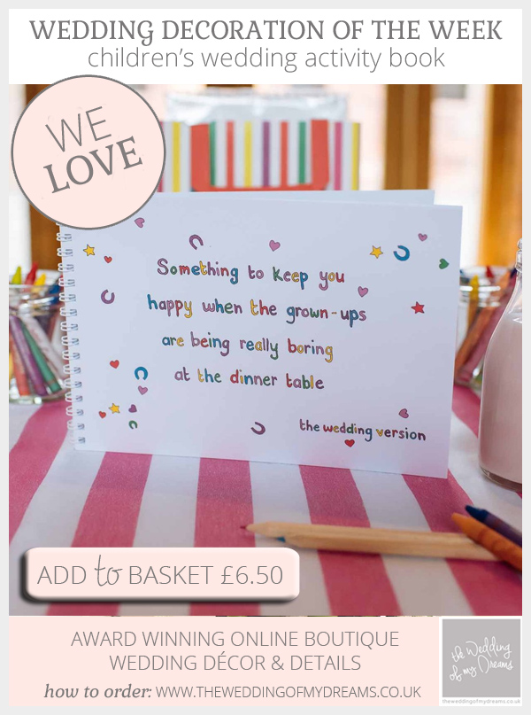 Childrens wedding activity book available from @theweddingomd