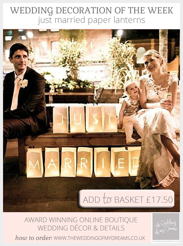Just Married Paper Lanterns available from @theweddingomd