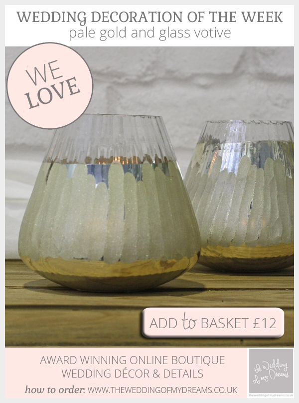 Pale gold votive available from @theweddingomd