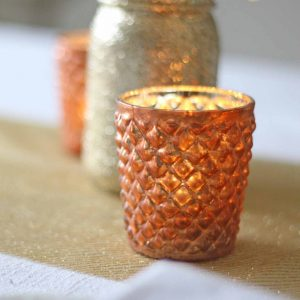 Quilted-Glass-Copper-Tea-Light-Holder