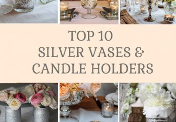 Top 10 silver vases and candle holders available from @theweddingomd