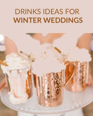 winter wedding drinks station hot chocolate marshmallows SQ