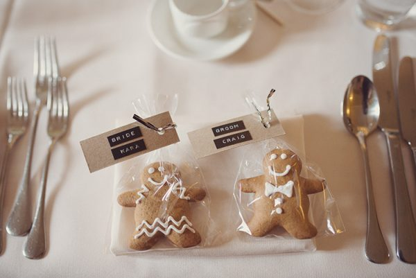 winter wedding favours gingerbread man