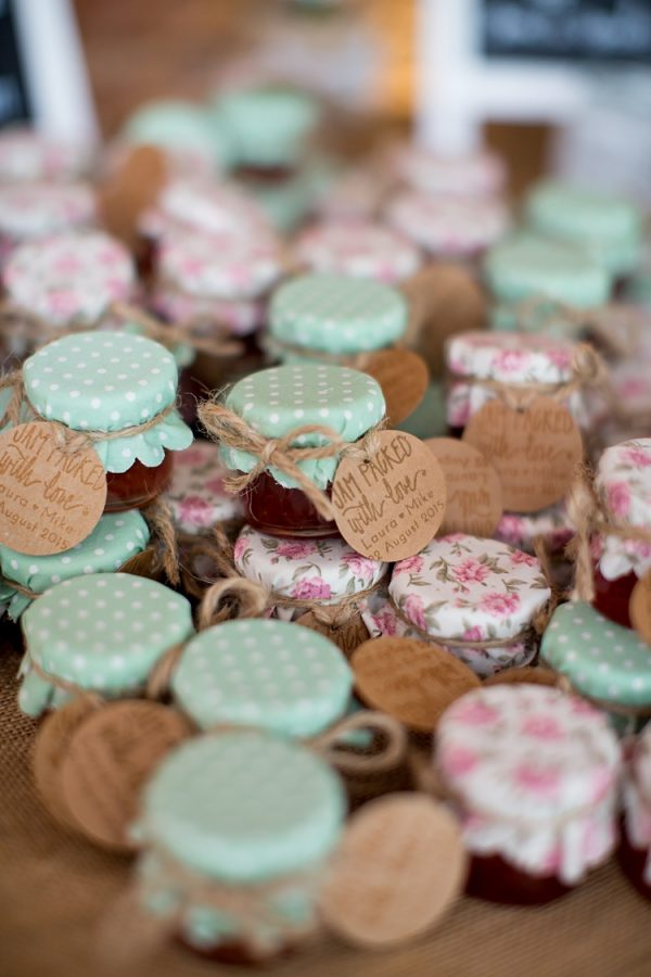 winter wedding favours jam
