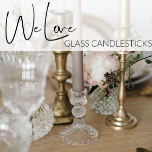 glass candlesticks wedding decorations