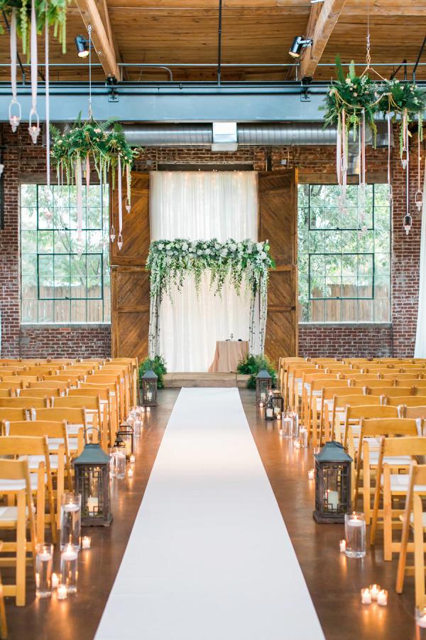 hanging candle holders winter wedding ceremony ideas - UK Wedding ...