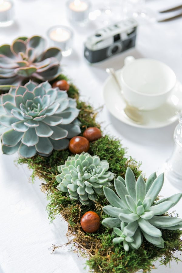 moss wedding table garland runner wedding centrepieces