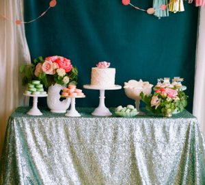 sequin table cloths wedding cake table silver sequins